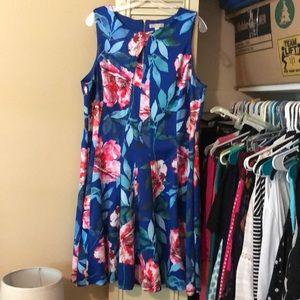 Floral print A line dress